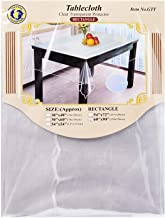 """Dolphin Collection PVC Clear Transparent Tablecloth 60""""X90"""" Oblong"""
