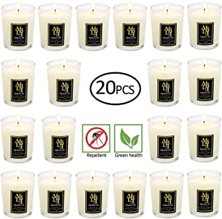 100% Soy Wax Citronella Candles Outdoor and Indoor Jar Candles, Scented Candles Perfect Woman and Man Gifts (Set of 20 X2....