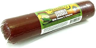 Jalapeno with Cheese Flavored Summer Sausage - Old Fashioned Beef Sausage - Made Fresh with Quality Ingredients and Packs an Awesome Flavor - IT'S A MUST TRY - 8 oz.