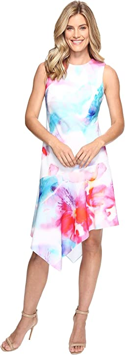 Floral Dress with Asymmetrical Hem CD7C201K
