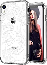 ICEDIO iPhone Xr Case with Screen Protector,Clear with Elegant White Blooming Floral Patterns for Girls Women,Shockproof S...