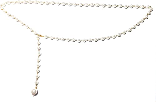 Town of Trinkets 6mm simulted Pearls Body Bikini Belly Body Waist Link Chain (28)