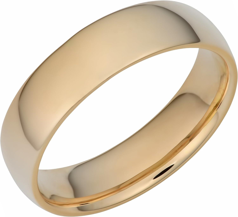 Kooljewelry 14k Yellow Gold 6 mm Band Comfort Wedding Hollow Max Ranking TOP16 70% OFF Fit