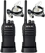 Retevis RT21 Two Way Radio UHF 16 CH 2 Way Radio VOX Walkie Talkies Rechargeable(1 Pair) with Covert Air Acoustic Earpiece(2 Pack)