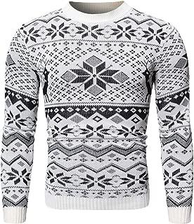 Sweater for Men Christmas Jumper Pullover Knitted Tops Blouse Slim Knitting