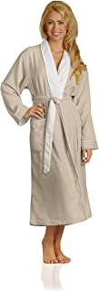 microfiber robe lined in terry