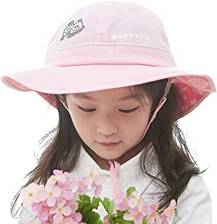 Siggi UPF50+ 4-10 Years Kid Bucket Sun Hat Foldable 51-53CM w/ Chin Cord Floppy
