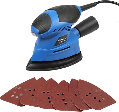 high quality Detail Sander with 6Pcs discount Sandpapers 12000RPM 130W 2m Cord with online sale Dust Collection Container for Tight Corner and Small Hard-to-reach Area Wood Metal Sanding Finishing Polishing sale