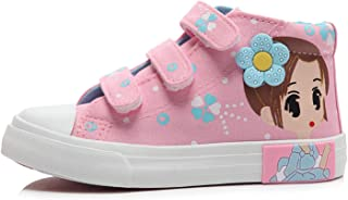 Girls Canvas Shoes Children Hooks Sneakers Kids Girls Flats Cartoon Girl Hand Painted Shoes
