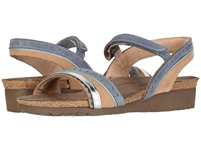 Naot Beverly (Nude Nubuck/Feathery Blue Nubuck/Silver Mirror Leather) Women