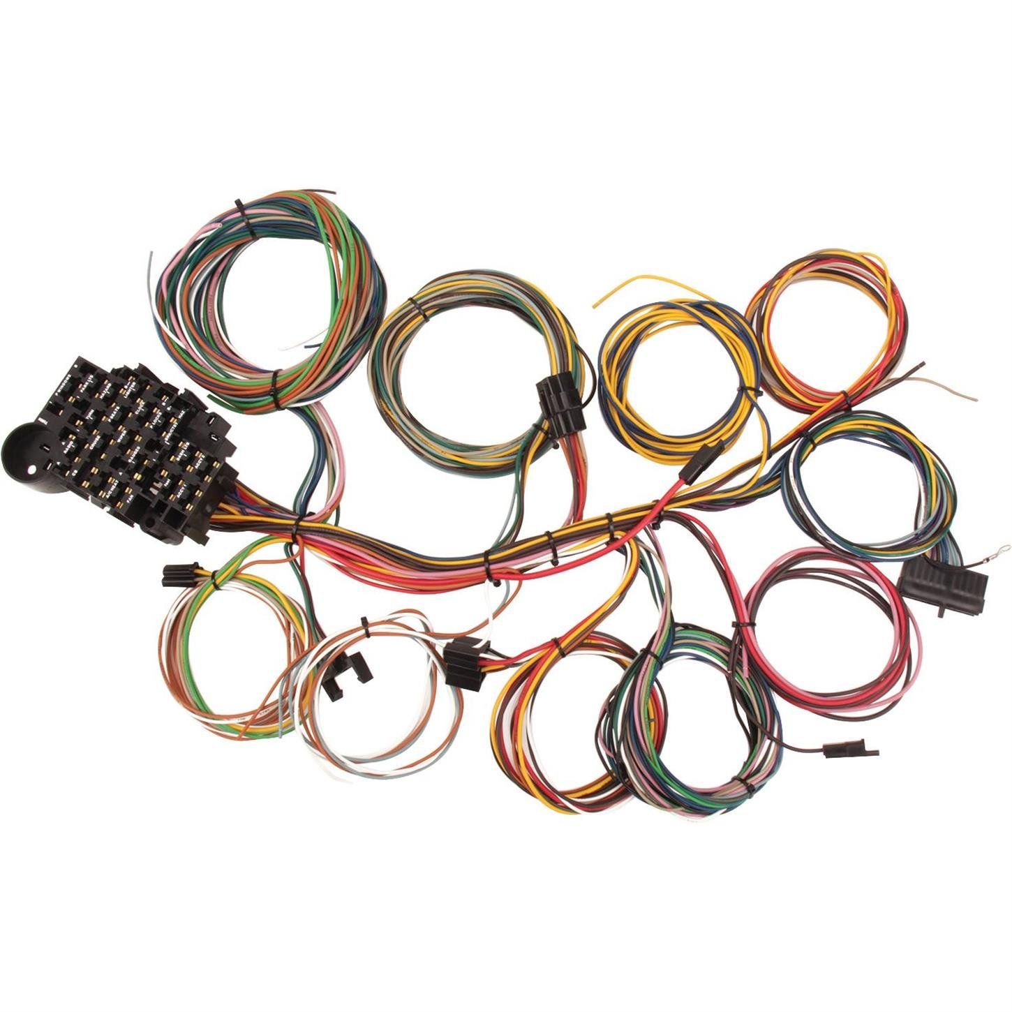 painless wiring amazon com22 circuit universal street rod wiring harness w detailed instructions