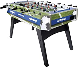 Festnight Table de Football Professionnel Tableau de Football Acier 60 kg 140 x 74,5 x 87,5 cm Marron
