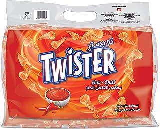 Twister Crispy Corn Chips Chilli Hot, 22 x 13 gm
