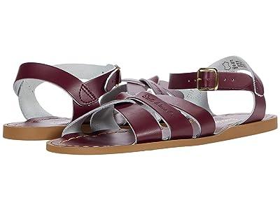 Salt Water Sandal by Hoy Shoes The Original Sandal (Big Kid/Adult) (Claret) Kid