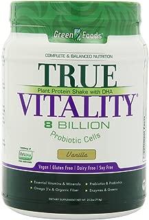 Green Foods True Vitality Plant Protein Shake, Vanilla, 25.2 Ounce