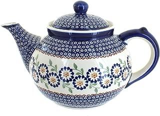 blue pottery teapot