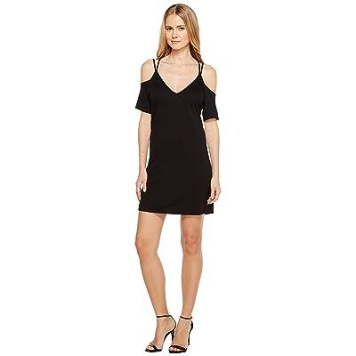 Lanston Cold Shoulder X Strap Dress (Black) Women