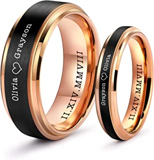 matching couples tungsten rings