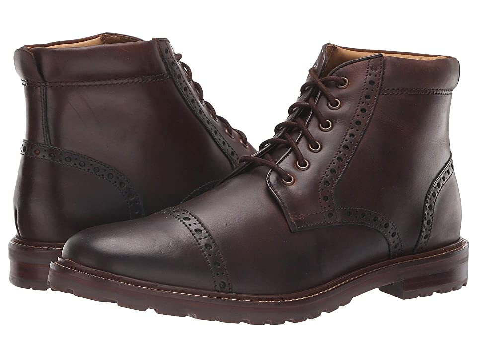 Florsheim Estabrook Cap Toe Boot (Brown Crazy Horse) Men