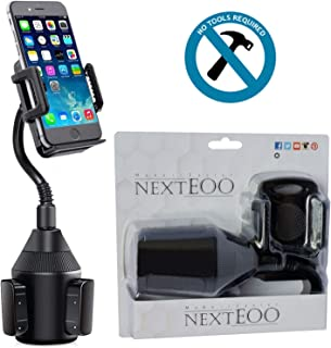 Cup Phone Holder for Car - Cup Holder Phone Mount - Universal Adjustable Gooseneck and 360 Degree Rotation for iPhone 11/11 Pro Max/X/Xs/Xr/Samsung Note 10 Plus/Note 10/Note 9/Galaxy S10/S10+/S9/S8