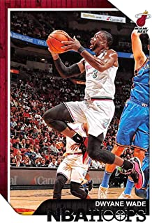 2018-19 NBA Hoops Basketball #207 Dwyane Wade Miami Heat Official Trading Card made by Panini