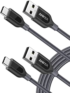 【2本セット】Anker PowerLine+ USB-C & USB-A 2.0 ケーブル (1.8m x 2 グレー) Galaxy S10 / S10+ / S9 / S9+/ S8 / S8+、MacBook、Xperia XZ その他...
