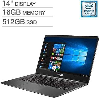 ASUS ZenBook UX430UN UltraBook Laptop: 14inFHD (1920x1080), 8th Gen Intel Core i7-8550U, 512GB SSD, 16GB RAM, NVIDIA MX150...