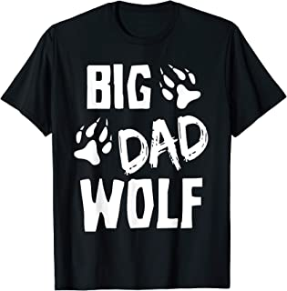 Homme Halloween Shirt For Dad Funny Costume Daddy Big Dad Wolf T-Shirt
