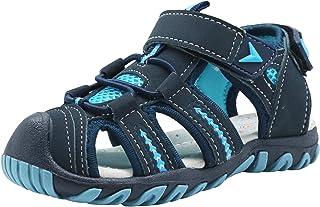 Apakowa Kid's Boy's Girl's Soft Sole Close Toe Sport Beach Sandals (Toddler/Little Kid)