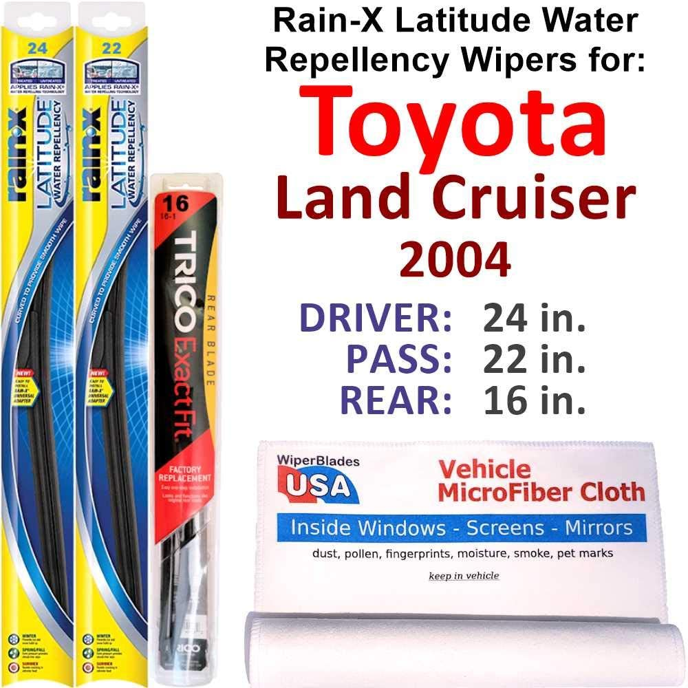 Rain-X Latitude Beam w Water Repellency Land Cru for 2021new shipping free 2004 Toyota Max 42% OFF