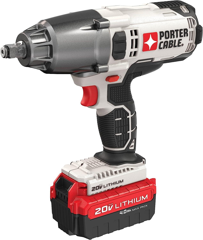 PORTER-CABLE PCC740LA 1/2-Inch 20V MAX Impact Wrench