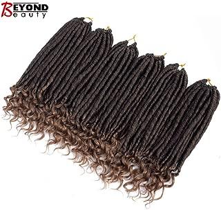 Straight Faux Locs With Curly Ends Goddess Locs Crochet Hair Soft Dreadlocks For Braids Faux Locs Crochet Braiding Hair Extensions 6packs(1B-27)