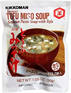 Kikkoman Instant Tofu Miso Soup (Soybean Paste Soup with Tofu) - Pack of 12