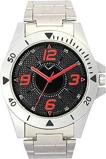 Black Dial Silver Metal Strap Office Wear Men Watch - Men Analog Watch - (VolgaSteel-0002)