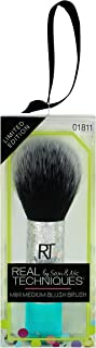 Real Techniques Mini Blush Brush Ornament Custom Cut Makeup Brush for Applying Blush, Ideal For Holiday Gifts