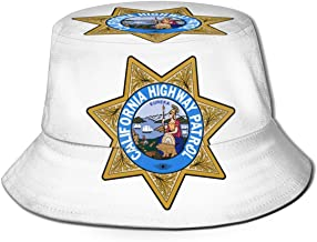 Hafjaiasfj California Highway Patrol The Full Fisherman's Hat is in Line with Fashion Trends, Casual and Beautiful, Unisex.