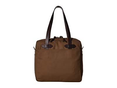 Filson Tote Bag with Zipper (Sepia) Tote Handbags