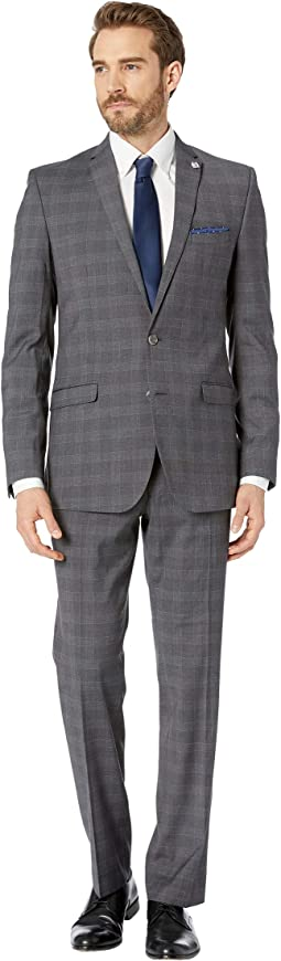 Navy Plaid Slim Fit Suit