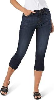 Lee Women's Sculpting Slim Fit Mid Rise Capri Jean