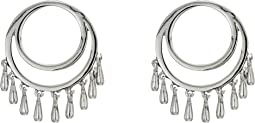 Front Facing Teardrop Circle Studs Earrings