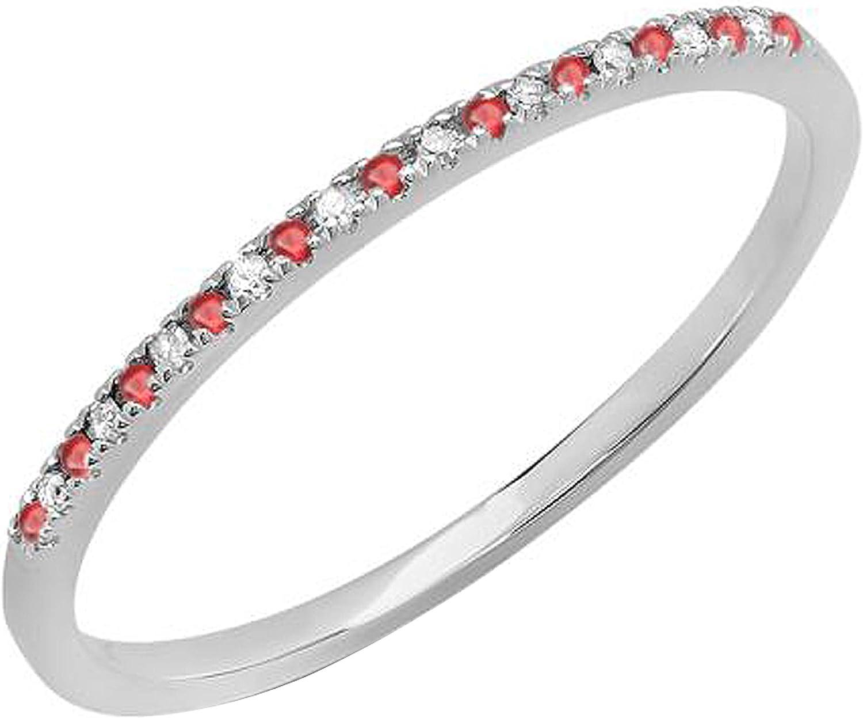 Dazzlingrock Collection 14K Gold Round Diamond Ruby Ladi White 55% OFF trend rank