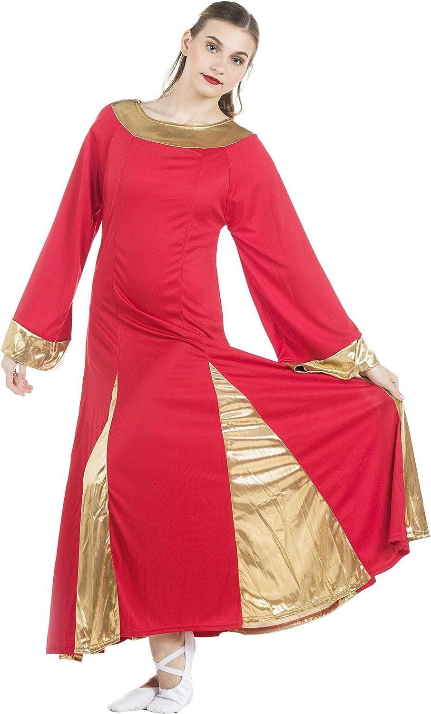 Danzcue Womens Praise Max 73% Ranking TOP8 OFF Robe Dress