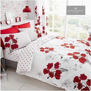 Gaveno Cavailia Floral Single Duvet Set Reversible Easy Care Cotton Blend 2 Piece Bedding   1 Quilt Cover + 1 Pillow Case...