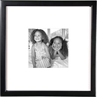 MCS 12x12 Inch East Village Collage Frame with 6x6 Inch Mat Opening, Black (65592)