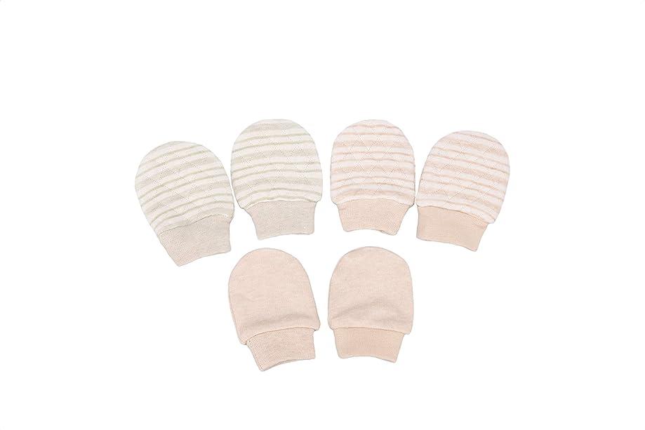Folamer Baby Mittens Cotton No Scratch Gloves for 0-6 Months Newborn 3 Pairs