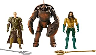 JUSTICE LEAGUE- Pack de 3 Figuras Aquaman, Multicolor, 15 cm