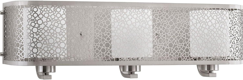 Progress Lighting P2163-09 Contemporary Soft 3-100W Med Bath Bracket, Brushed Nickel