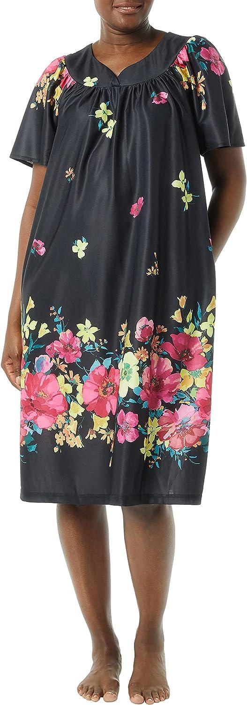 AmeriMark Women's Lounger House Dress - Short Sleeve Patio Dress w/ Side Pocket
