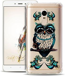 Anfire Funda Xiaomi Redmi Note 4 Case Suave y Transparente Cover Flexible de Silicona Carcasa [Esquinas Reforzadas] Protección Gota y Ultra Ligera Gel TPU Bumper Case Claro Caso - Búho
