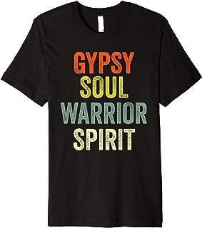 Gypsy Soul Fun Hippie Warrior Spirit Wild Heart Retro Gifts Premium T-Shirt